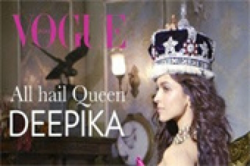 deepika padukone the queen of bollywood vogue photo shoot