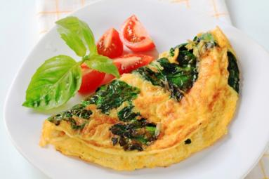 Healthy Spinach Tomato Omelette!